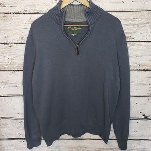 Mens Eddie Bauer 1/4 Zip Sweater   Size XL